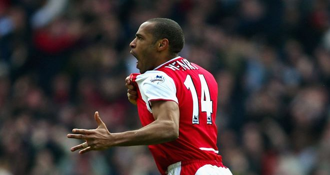 Thierry Henry: Striker is Arsenal's record goalscorer and he is due to return to the club on loan