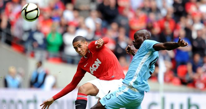 Smalling: Looking forward to a big season at Old Trafford after starring in the Community Shield