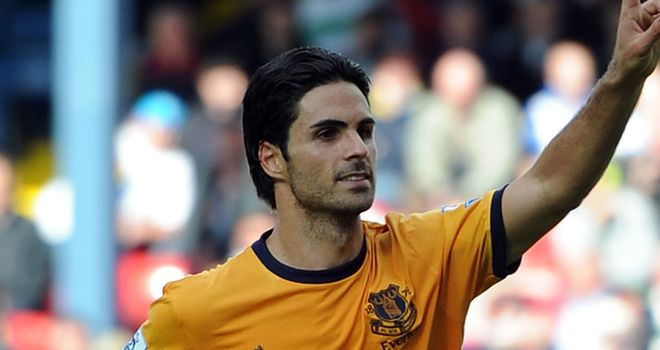 Arteta: The Everton midfielder is the subject of talks with Arsenal