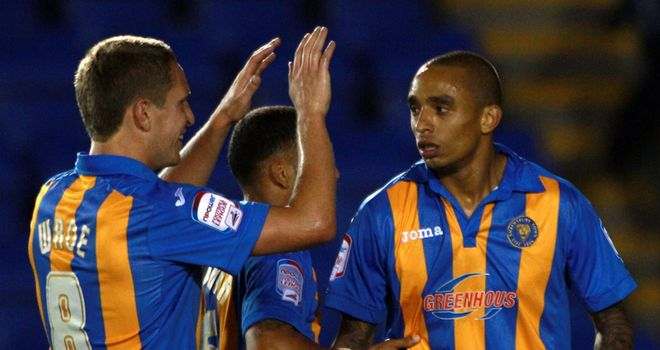 Wright (right): Scored Shrews' first