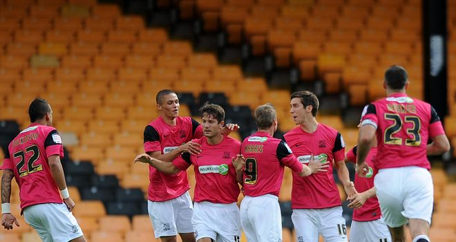 Phillips: Celebrates goal