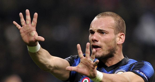 Wesley Sneijder: Has been linked with Manchester giants United and City
