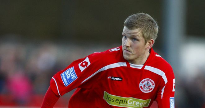 Gibson: Has joined St Johnstone on loan after suffering from homesickness at Crawley