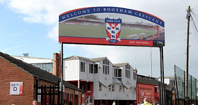 Bootham Crescent: Will welcome non-league sides