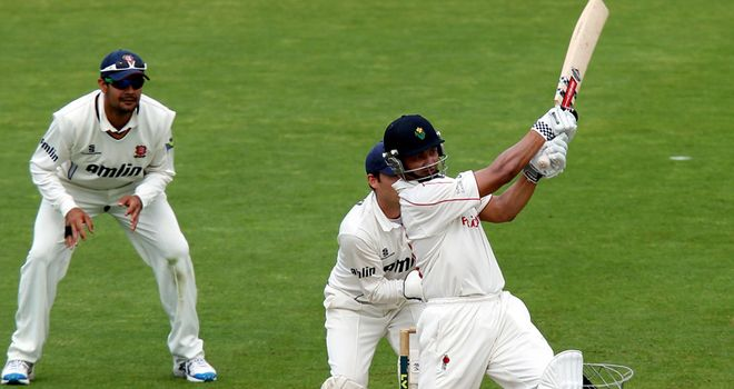Alviro Petersen goes on the attack for Glamorgan last season