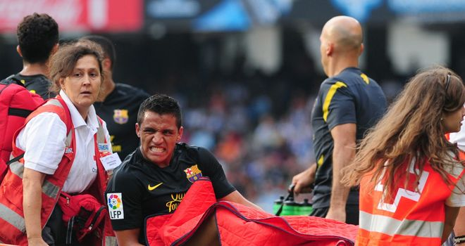 Sanchez: Was stretchered off during Barca's trip to Real Sociedad