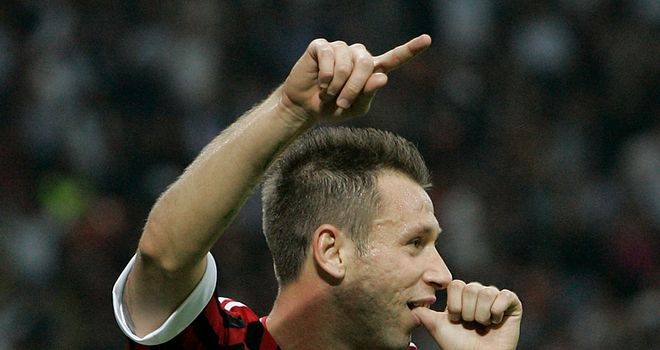 Antonio Cassano: AC Milan forward has been hospitalised after falling ill on Saturday night