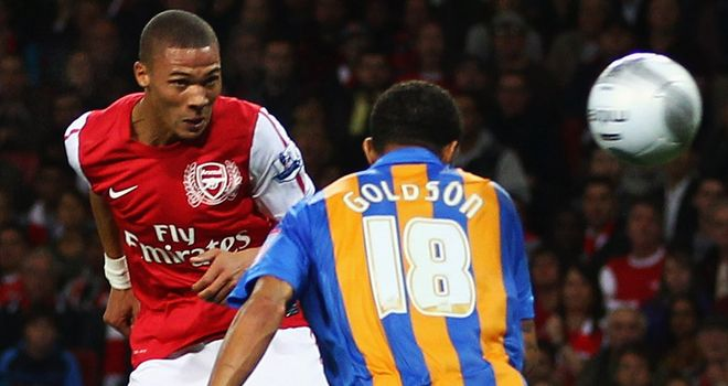 Gibbs: Heads home Arsenal equaliser