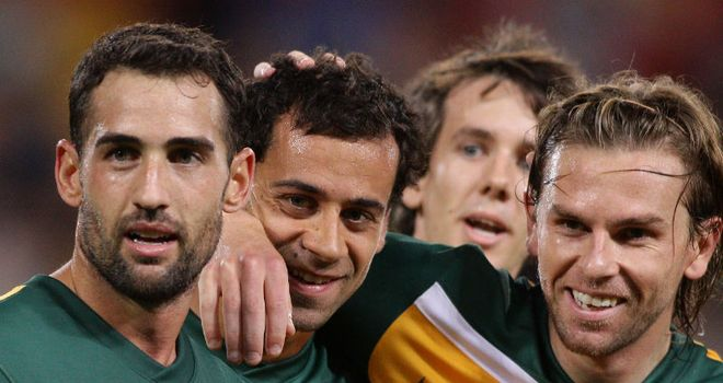 Brosque (c): Congratulated on Australian winner