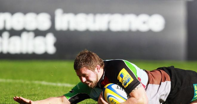 Chris Brooker: fifth Quins try
