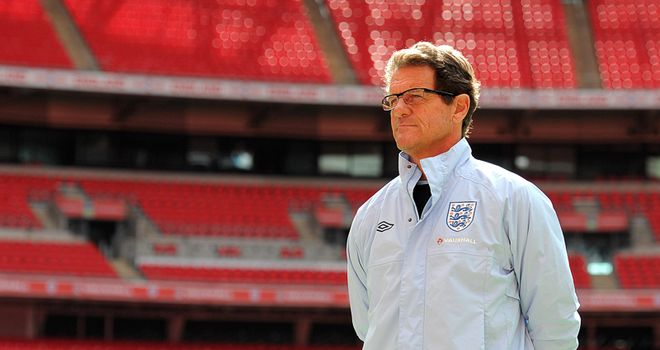 Capello: Has suffered only two defeats at Wembley and needs to get England believing in themselves