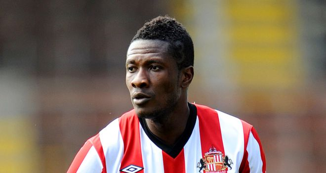 Asamoah Gyan: Ghana striker is set to have a chat with Sunderland boss Martin O'Neill