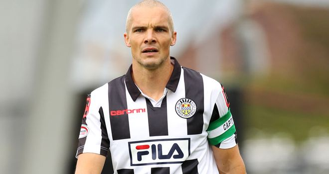 Jim Goodwin: St Mirren midfielder has accepted punishment and is now banned for three games