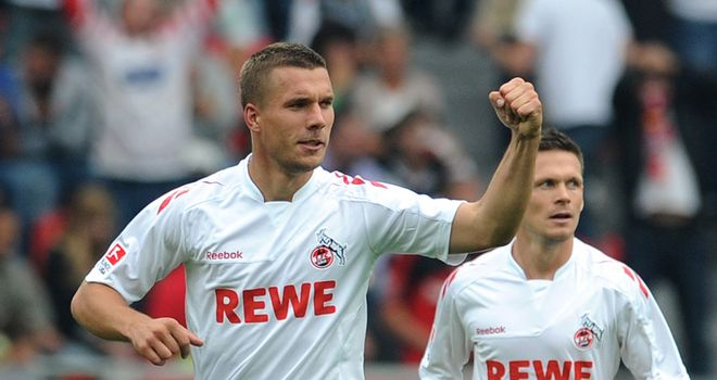 Podolski: Has scored three goals in five appearances for Cologne this season