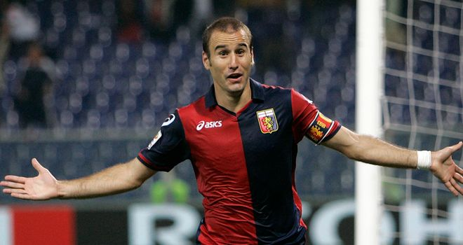 Palacio: Scored brace to send Genoa top of early table