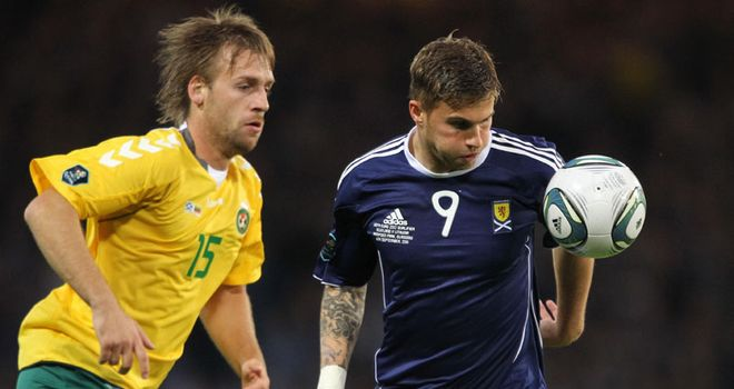 David Goodwillie: Has been called up to the Scotland squad to play against Australia