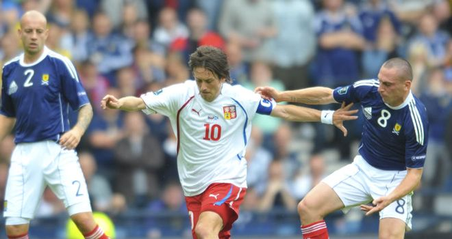 Tomas Rosicky: Confident that the Czechs can beat Scotland to second place in Group I