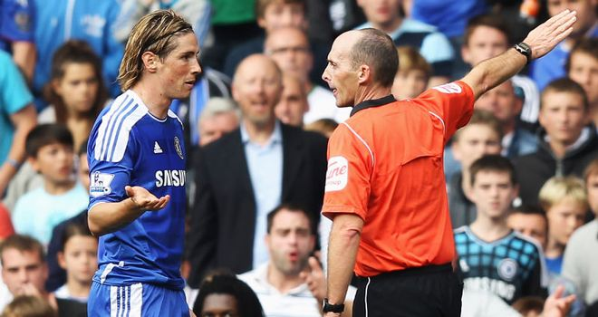 Torres: Shown a straight red card soon after giving Chelsea the lead