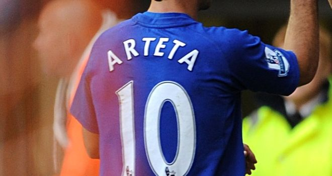 Arteta: Shirt number at Everton