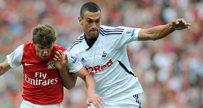 Caulker: Facing a spell on the sidelines after damaging his knee against Arsenal