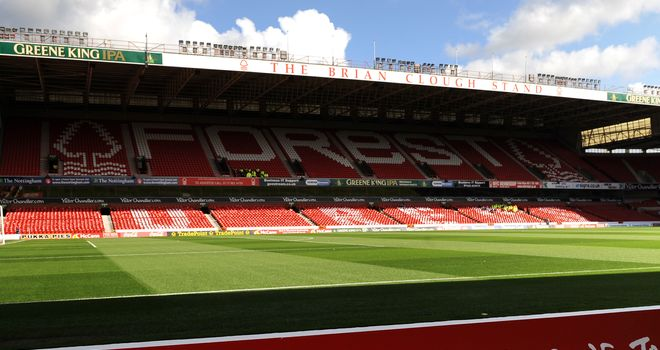 The City Ground: Nottingham Forest suppporters are the subject of a police investigation