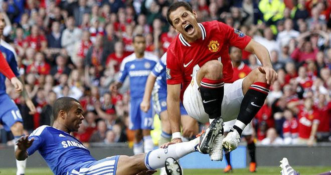 Hernandez: Available to face Stoke despite being caught by Cole on Sunday