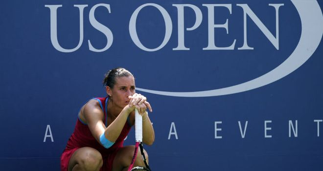 Flavia Pennetta: through to her third Grand Slam quarter-final