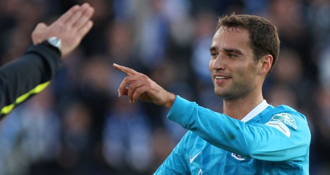 Shirokov: Bagged two goals in Zenit's 3-1 win over Porto
