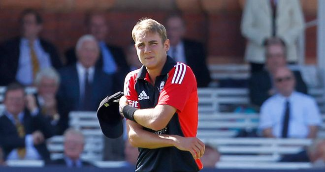 Stuart Broad: Injured as England clinched series win