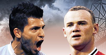 Aguero & Rooney: Go head-to-head in unmissable derby