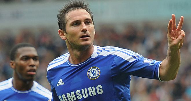 Lampard: netted a hat-trick against Bolton
