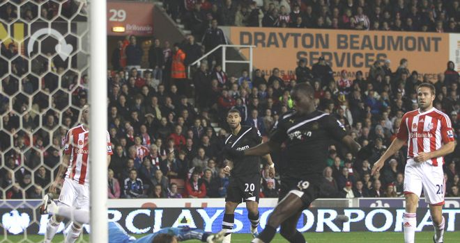Demba Ba: On form against Stoke but Tony Pulis has defended the decision not to sign him