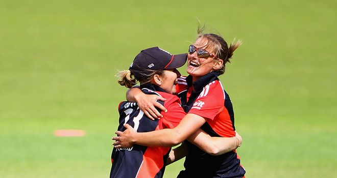 Roomies: Charlotte Edwards and Danielle hope to guide England to further victories
