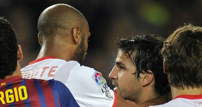 Frederic Kanoute: Claims to have reacted to racist abuse after being sent off