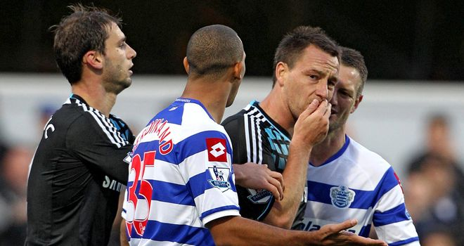 John Terry: Alleged to have racially abused Anton Ferdinand at Loftus Road