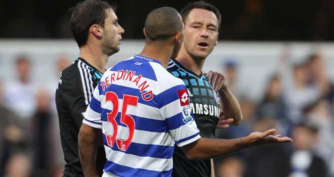 John Terry and Anton Ferdinand: The England captain is alleged to have racially abused the QPR defender