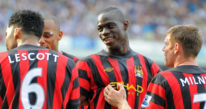 Balotelli: Looks a changed man at Man City