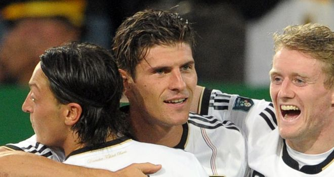 Mario Gomez: Striker was on target with Germany's third goal in their victory over Belgium