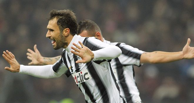 Mirko Vucinic: On target for Juventus in their draw with Bologna
