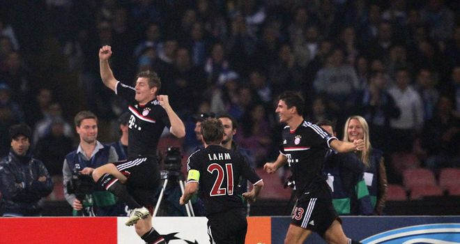 Toni Kroos: Scored after just two minutes at Stadio San Paolo for Bayern Munich