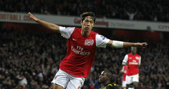Chu-Young Park: Scored Arsenal's winner in the 56th minute