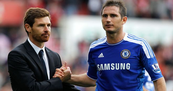 Andre Villas-Boas and Frank Lampard: The Chelsea boss insists there is no rift between the pair