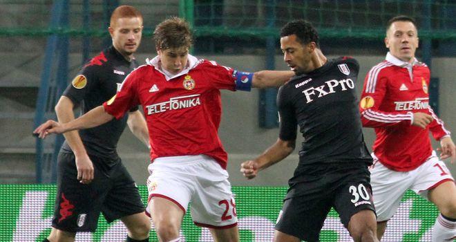 Moussa Dembele: Was sent off as Fulham were beaten 1-0 by Wisla Krakow in the Europa League