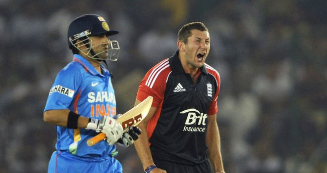 Tim Bresnan (R): Fined for showing dissent to an umpire in Mohali.