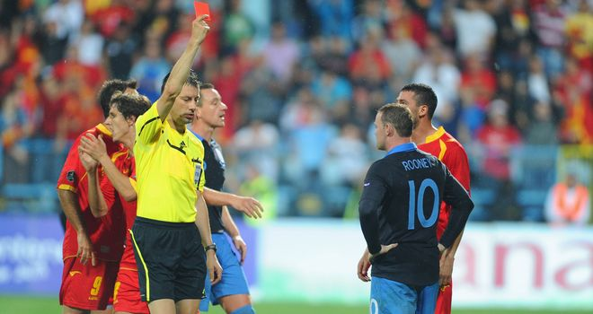 Off: Rooney sees red and earns a Euro 2012 suspension
