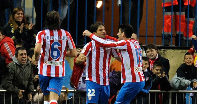 Diego: On target for Atletico Madrid after recent muscle injury