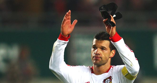 Michael Ballack: The former Chelsea midfielder is struggling to hold down a regular place at Bayer Leverkusen