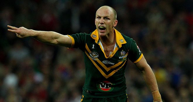 Darren Lockyer: in the UK to help promote next year's World Cup