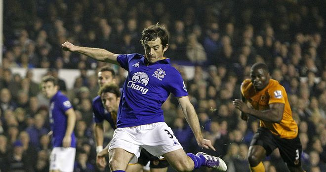 Leighton Baines: Picked up a knock during Everton's FA Cup semi-final defeat to Liverpool
