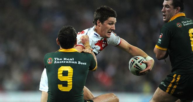 Gareth Widdop: came off the bench in Saturday's 36-20 defeat by Australia